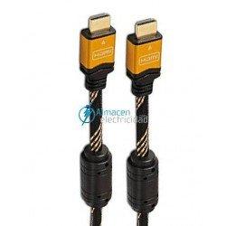 CABLE HDMI V1.4 CON FERRITA Y CONEXIONES DE ORO MACHO-MACHO DE 5 METROS