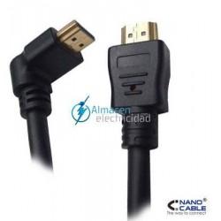 CABLE HDMI ACODADO V1.4 MACHO-MACHO 1,8 METROS