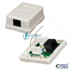 ROSETA SUPERFICIE RJ45 1 TOMA CAT.5E UTP BLANCO