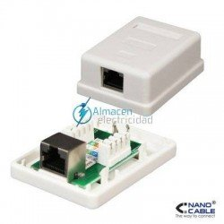 ROSETA SUPERFICIE RJ45 1 TOMA CAT.5E FTP BLANCO