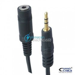 CABLE AUDIO ESTEREO JACK 3,5 MACHO-HEMBRA DE 3 M