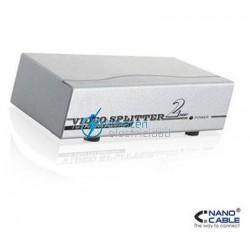 SPLITTER (DUPLICADOR VGA) PARA 2 MONITORES CON ALIMENTACIÓN