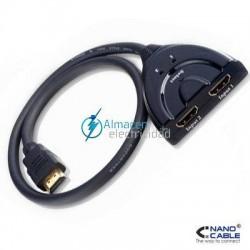 SWITCH HDMI V1.3 2 ENTRADAS-1 SALIDA CABLE 0,5 M