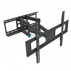 "SOPORTE PARA MONITOR Y TV 37""-70"" INCLINABLE Y GIRATORIO NEGRO"