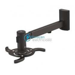 SOPORTE PROYECTOR PARED GIRATORIO INCLINABLE Y EXTENSIBLE NEGRO