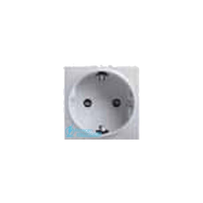 BASE SCHUKO® SEGURIDAD BIPOLAR CON T.T. LATERAL 16A 250V BLANCO