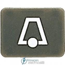 Símbolos JUNG 33 AN K en acabado antracita