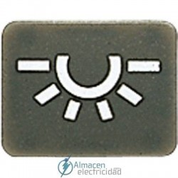 Símbolos JUNG 33 AN L en color antracita
