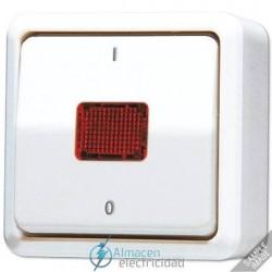 Interruptor de control 10AX-250V de JUNG 602 KOA en color blanco marfil