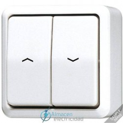 Interruptor-pulsador de persianas 10AX-250V de JUNG 609 VA en color blanco marfil