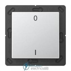 Radioemisor superficie EnOcean con símbolos 0 I JUNG ENO A 590-01 AL en aluminio