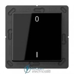 Radioemisor superficie EnOcean con símbolos 0 I JUNG ENO A 590-01 SW en color negro