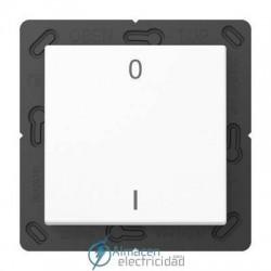 Radioemisor superficie EnOcean con símbolos 0 I JUNG ENO A 590-01 WW en color blanco alpino