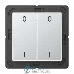 Radioemisor superficie EnOcean con símbolos 0 I JUNG ENO A 595-01 AL en aluminio