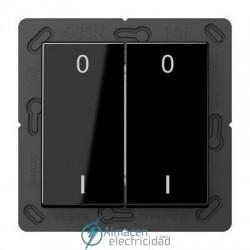 Radioemisor superficie EnOcean con símbolos 0 I JUNG ENO A 595-01 SW en acabado negro
