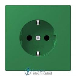 Enchufe SCHUKO 16A-250V JUNG LC 1520 KI 32050 en color vert foncé