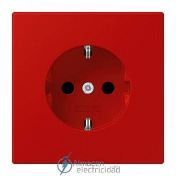 Enchufe SCHUKO 16 A - 250 V JUNG LC 1520 KI 32090 en color rouge vermillon 31