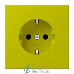 Enchufe SCHUKO 16A-250V JUNG LC 1520 KI 4320F en color vert olive vif