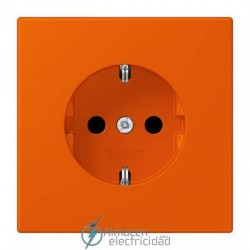 Enchufe SCHUKO 16 A - 250 V JUNG LC 1520 KI 4320S en color orange vif
