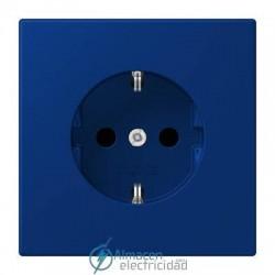 Enchufe SCHUKO 16A-250V JUNG LC 1520 KI 4320T en color bleu outremer foncé