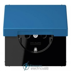 Enchufe SCHUKO 16 A - 250 V JUNG LC 1520 KIKL 32030 en color bleu céruléen 31
