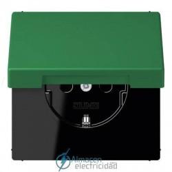 Enchufe SCHUKO 16 A - 250 V JUNG LC 1520 KIKL 32050 en color vert foncé