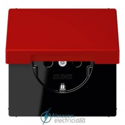Enchufe SCHUKO 16 A - 250 V JUNG LC 1520 KIKL 32090 en color rouge vermillon 31