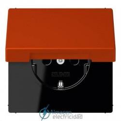 Enchufe SCHUKO 16 A - 250 V JUNG LC 1520 KIKL 4320A en color rouge vermillon 59