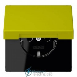 Enchufe SCHUKO 16 A - 250 V JUNG LC 1520 KIKL 4320F en color vert olive vif