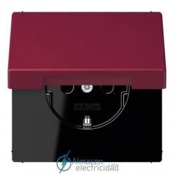 Enchufe SCHUKO 16 A - 250 V JUNG LC 1520 KIKL 4320M en color le rubis