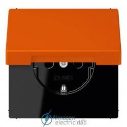 Enchufe SCHUKO 16 A - 250 V JUNG LC 1520 KIKL 4320S en color orange vif