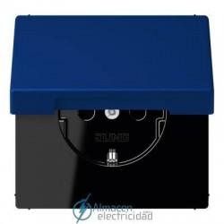 Enchufe SCHUKO 16 A - 250 V JUNG LC 1520 KIKL 4320T en color bleu outremer foncé