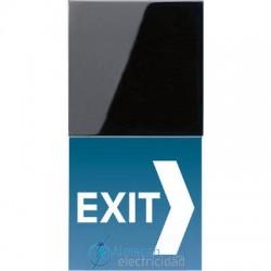 Placa de LED para señalización JUNG LS 539 N71SWLEDW en color negro