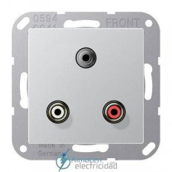 Cinch Audio (RCA) - Jack3,5mm JUNG MA A 1011 AL en color blanco aluminio