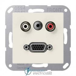 Cinch Audio (RCA) - Jack3,5mm - VGA JUNG MA A 1072 en color blanco marfil