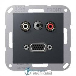Cinch Audio (RCA) - Jack3,5mm - VGA JUNG MA A 1072 ANM en color antracita mate