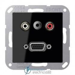Cinch Audio (RCA) - Jack3,5mm - VGA JUNG MA A 1072 SW en color negro