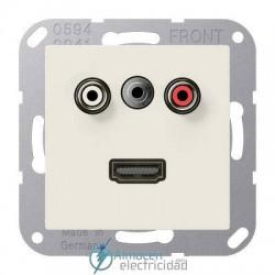 Cinch Audio (RCA) - Jack3,5mm - HDMI JUNG MA A 1082 en color blanco marfil