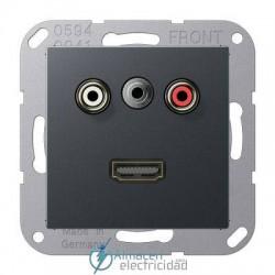 Cinch Audio (RCA) - Jack3,5mm - HDMI JUNG MA A 1082 ANM en color antracita mate