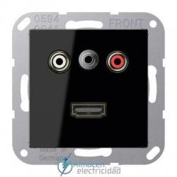 Cinch Audio (RCA) - Jack3,5mm - HDMI JUNG MA A 1082 SW en color negro