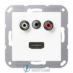 Cinch Audio (RCA) - Jack3,5mm - HDMI JUNG MA A 1082 WW en color blanco alpino