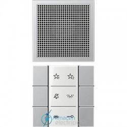 Unidad interior audio JUNG SI AI AL 6 en color aluminio