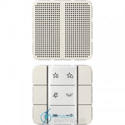 Unidad interior audio JUNG SI AI CD 6 W en color blanco marfil