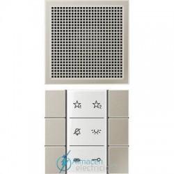 Unidad interior audio JUNG SI AI ES 6 en color acero