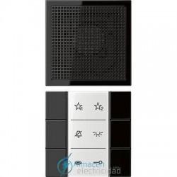 Unidad interior audio JUNG SI AI LS 6 SW en color negro
