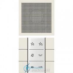 Unidad interior audio JUNG SI AI LS 6 W en color blanco marfil