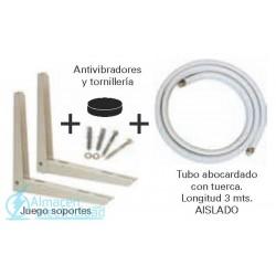 KIT SOPORTE + FIJACION + ANTIVIBR.+TUBO 1/4 3/8 AISLADO