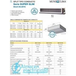 SPLIT CONDUCTO MUC-24 HG (R410A) MUNDOCLIMA