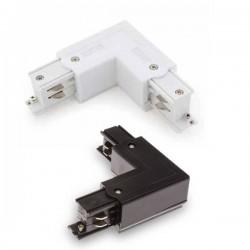 Conector BLANCO tipo L para carril trifásico