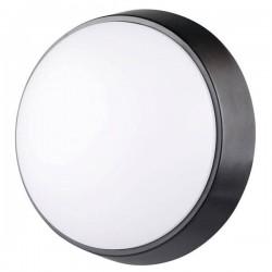 Plafón LED Redondo de Superficie con Sensor Pir Luxtar Black 14W IP54 6500 K FRIO